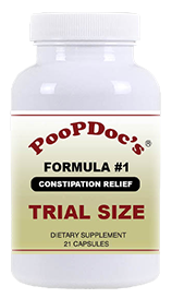 TRIAL SIZE PoopDoc's Relief for Constipation  Formula #1 - 21 Capsules - Trial Size with FREE SHIPPING
