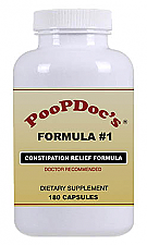 PoopDoc Constipation Relief Formula #1 - 180 Capsules.